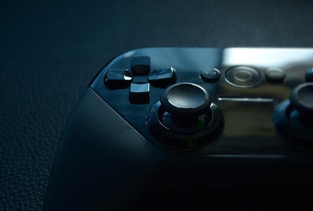 ゲームコントローラーの写真