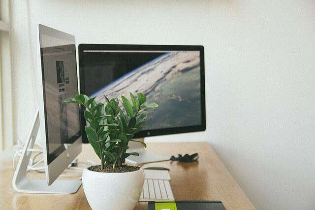 Macのパソコンの写真