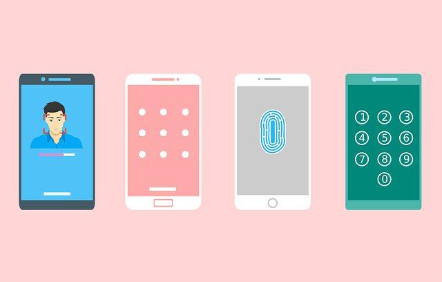 スマートフォンロックの種類の画像