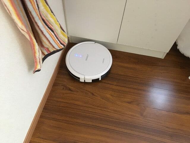 脱衣所をキレイにするロボット掃除機
